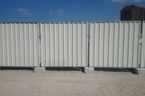 Corrugated fence UAE, Temporary fencing Dubai