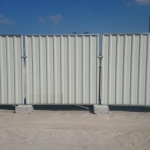 TEMPORARY CORRUGATED FENCING
